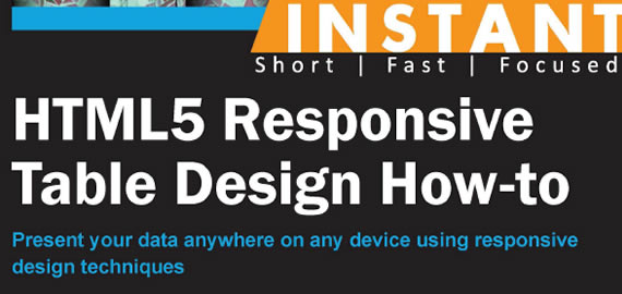 HTML5 Responsive Table Design Book