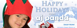 Happy Holidays From AJ Panda Banner