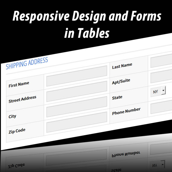 Responsive Design and Forms in Tables